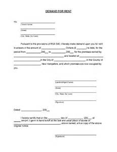Demand Letter Alberta New Hshire Demand For Rent Ez Landlord Forms