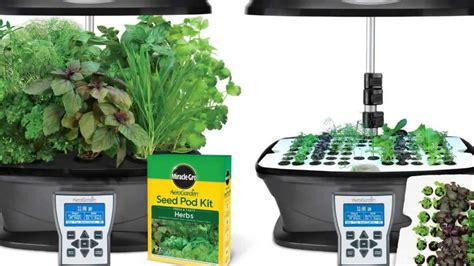 indoor garden kit miracle gro aerogarden ultra indoor garden with gourmet