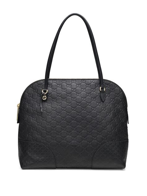 gucci ssima leather shoulder bag in black lyst