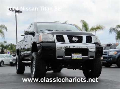how cars run 2011 nissan titan engine control 8995 2004 used nissan titan se king lifted youtube