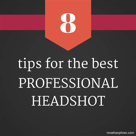 8 Tips For by 8 Tips For The Best Professional Headshot Marc Nathan