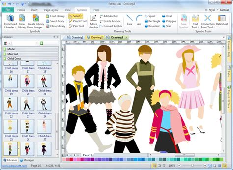 Design Clothes Free | kids clothing design software edraw