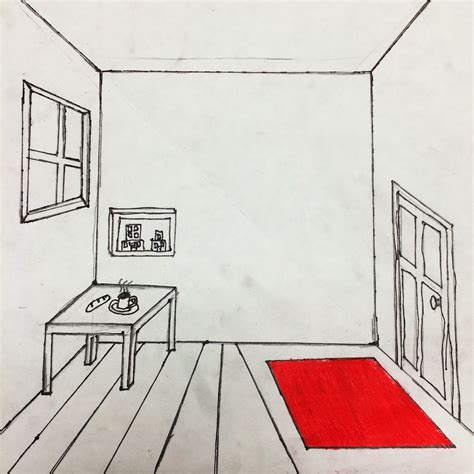 one point perspective room the helpful draw a surrealistic room in one point perspective