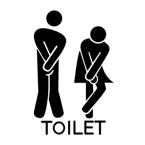Sticker Toilet Lucu barangunik co detil produk stiker pintu toilet lucu ukuran besar