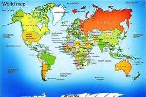 Detailed World Map by Detailed Map Of The World On Maps Rf Com