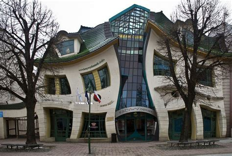crooked house in sopot poland is like a children s book crooked house sopot poland ad venture pinterest