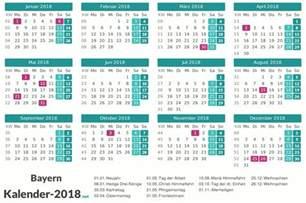 Kalender 2018 Weißer Sonntag Feiertage Bayern 2018