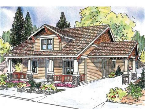 Craftsman House Plans With Porte Cochere | craftsman with porte cochere hwbdo13281 craftsman from