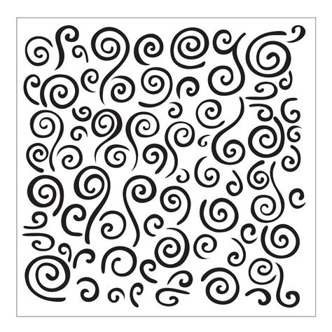 Folkart Swirl Background Small Painting Stencil 30609