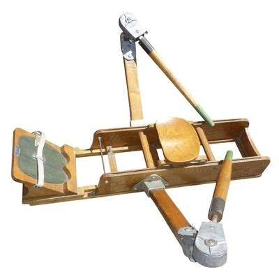 Small Home Rowing Machine Vintage Wooden Rowing Machine Vintage Exercise Equipment