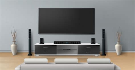 realistic mockup living room  big plasma tv flat gray