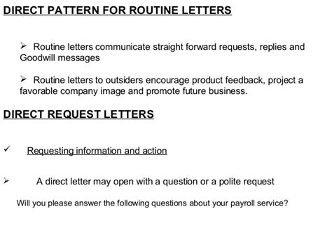 Routine Request Letter Exle News Business Communication