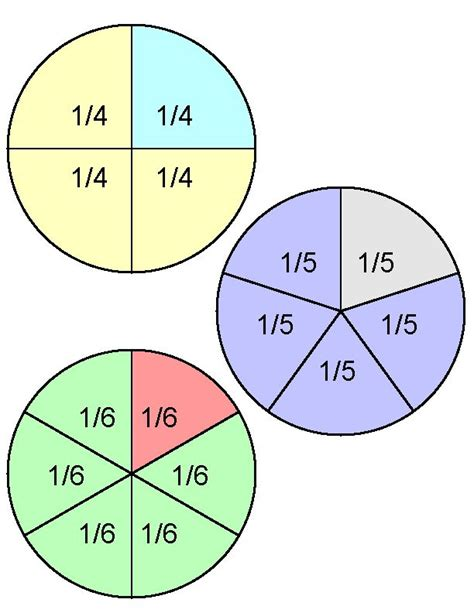 visual aids for teaching fractions and worksheets free