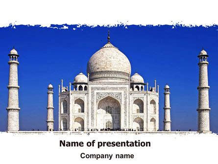 Indian Taj Mahal Powerpoint Template Backgrounds 06690 Ppt On Taj Mahal