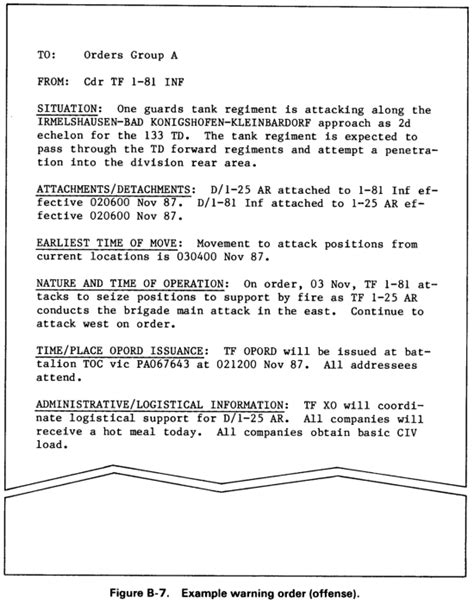 warning order template 28 images warning order