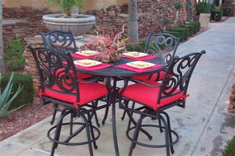 5 pc outdoor bar height patio set for sale from chandler