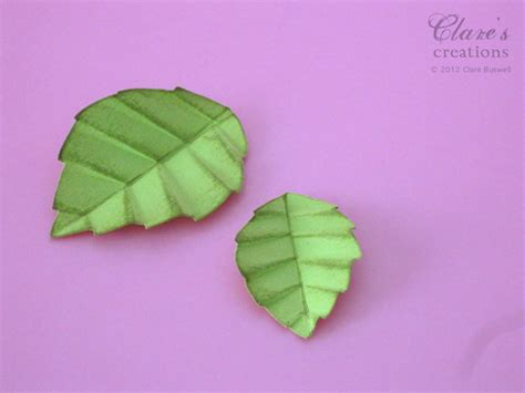 How To Make Paper Leaves - paper crafted leaf tutorial by cbuswell at