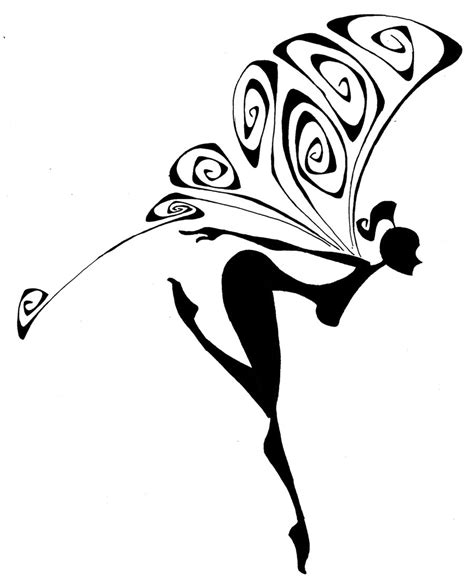 silhouette fairy by marc0f on deviantart