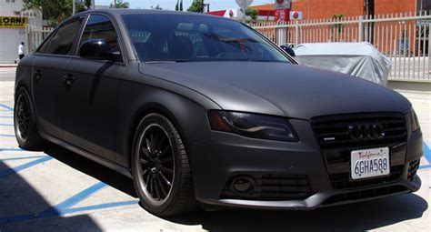 audi a4 matte black vinyl experts please come