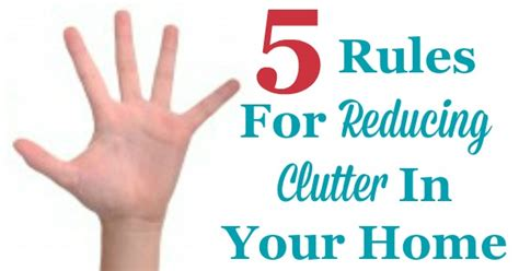 reducing clutter five for reducing clutter in your home