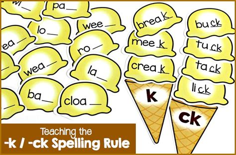 ck pattern words fun little activity for teaching the k and ck spelling
