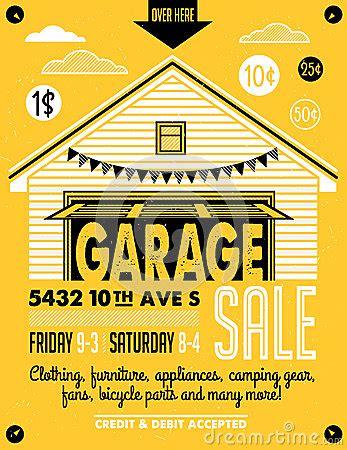 garage sale poster vector illustration | cartoondealer.com
