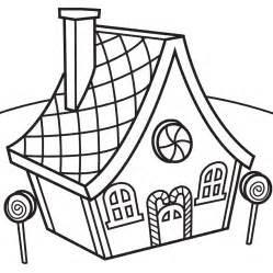 Gingerbread house coloring page az coloring pages