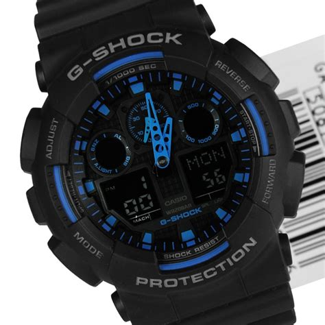 Casio G Shock Ga 100 Black casio g shock velocity indicator ga 100 1a1dr ga 100