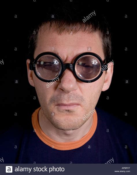 actor with thick rimmed glasses middle aged man pulling a face with novelty thick rimmed