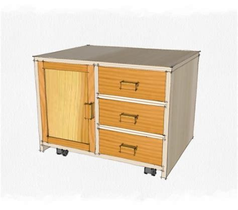 wood workstorage cabinet plans    build  easy