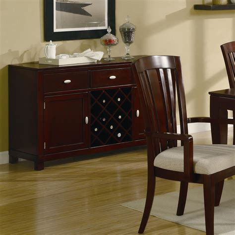 coaster el rey 101625 brown wood buffet table in los