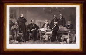 Abraham Lincoln Cabinet Historic Photograph Of Salmon P Donated To The Treasury