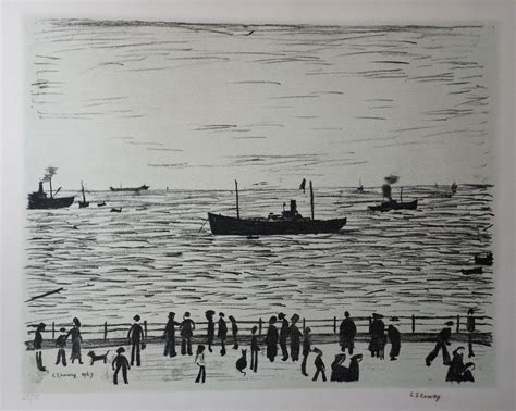 Seaside Ls lowry ls lowry lithographs seaside promenade lowry prints