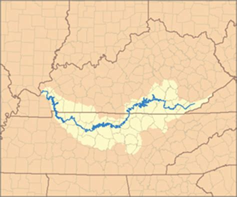 kentucky map with rivers localwaters cumberland river maps boat rs