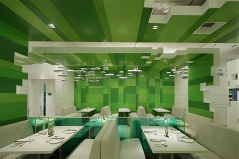 interior design themes modern restaurant with green blocks interior theme post