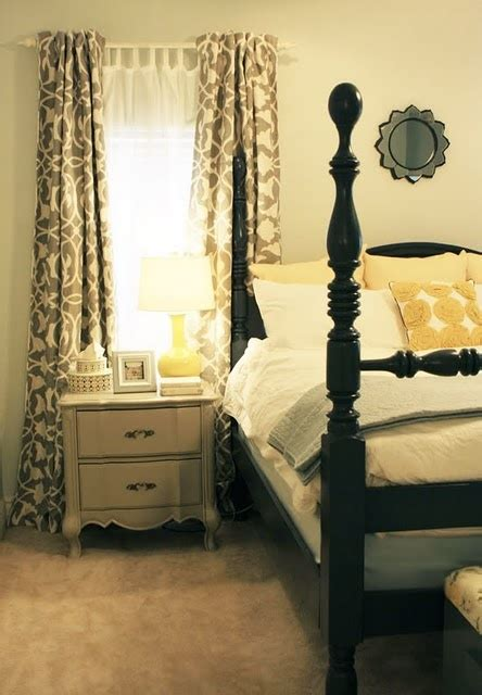 yellow and gray bedroom curtains blue white yellow a gray in the bedroom and