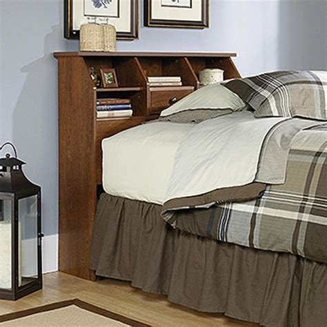 twin oak headboard sauder shoal creek oiled oak twin headboard 411904 the