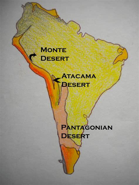 south america map desert desert location