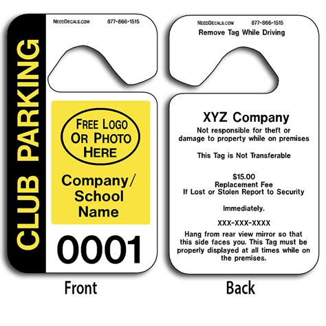Car Rider And Parent Pick Up Tags 50 3 10 To 2 500 0 42 Free Numbering Backprinting Car Rider Sign Template