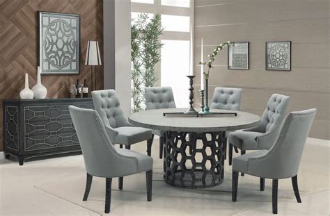 7 piece round dining room set homelegance chicago 7 piece pedestal dining room set in