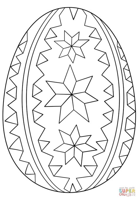 pysanky eggs coloring page ornate easter egg coloring page free printable coloring