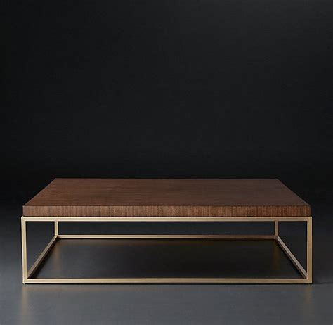 gold and wood coffee table square walnut coffee table