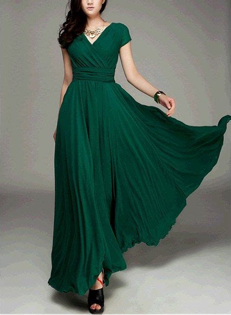 s jade green color chiffon skirt circumference
