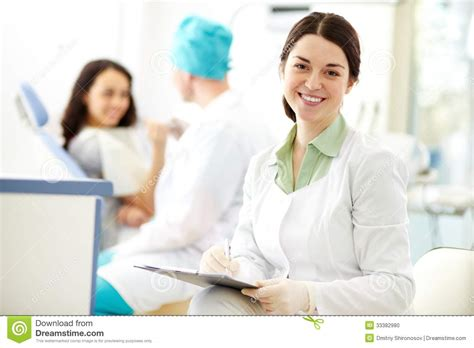 pretty assistant stock photo image 33382980