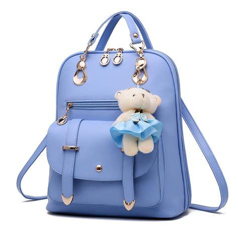 Asli Murah Tas Ransel Import 812 jual tas ransel wanita kulit import asli warna blue biru muda harga murah surabaya oleh pt
