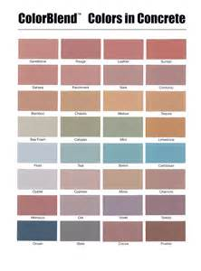 davis concrete color chart concrete color images images