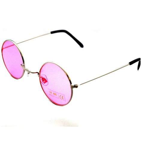 VTG Round Pink Lens 90s Glasses/Sunglasses BNWT/NEW Hippy