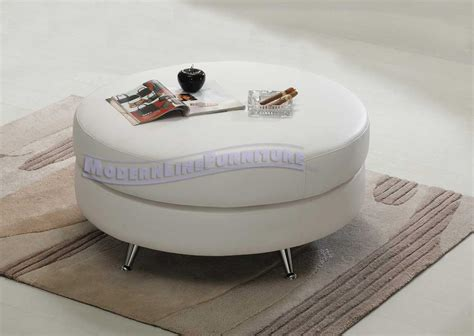 large round contemporary white leather ottoman modern furniture contemporary furniture nightclub