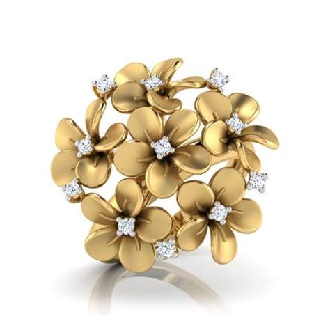 plumeria cluster ring jewellery india online caratlane.com