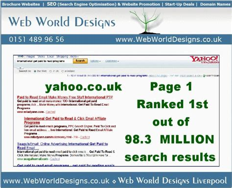 yahoo web page layout web world designs search engine marketing specialist in